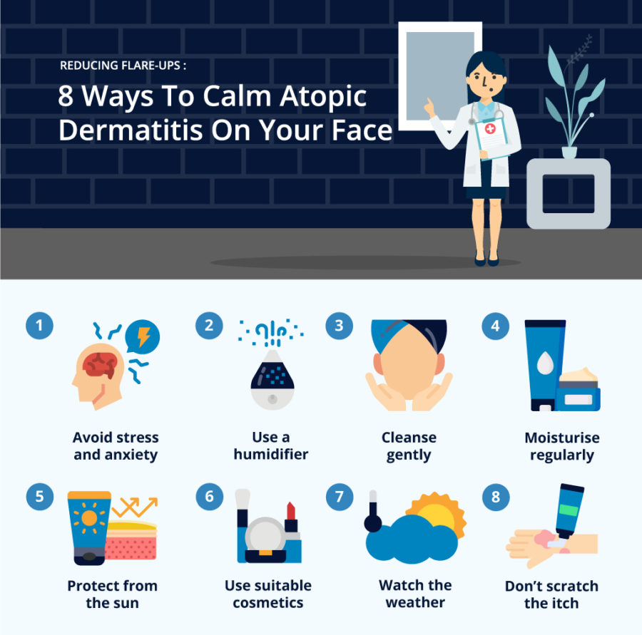 8 Ways To Calm Atopic Dermatitis On Your Face