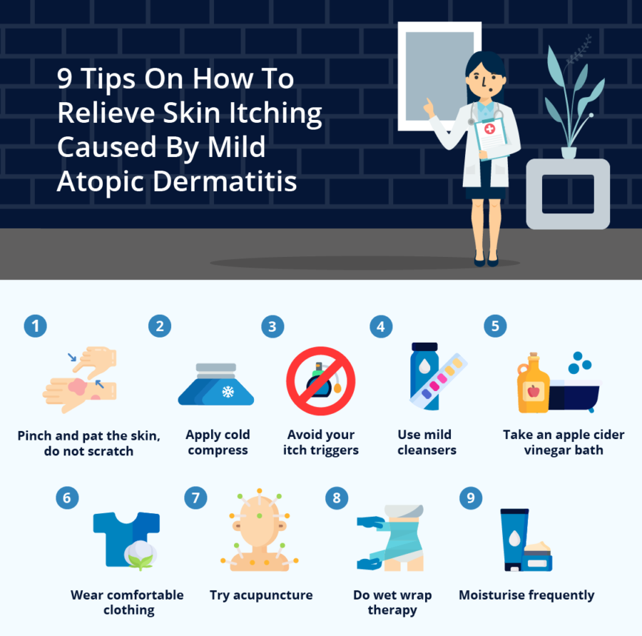 9 Tips On How To Relieve Skin Itching Caused By Mild Atopic Dermatitis
